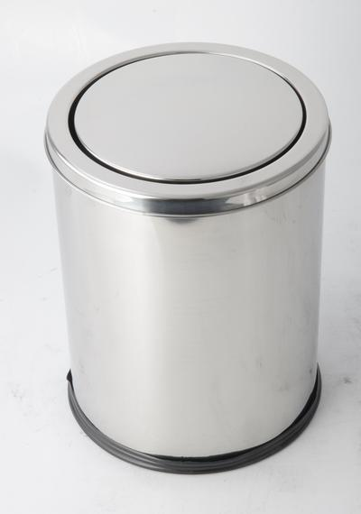 Stainless Steel Trash Can With Flip Cover 201# RGS-UL124